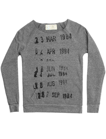 Library Stamp women's sweatshirt