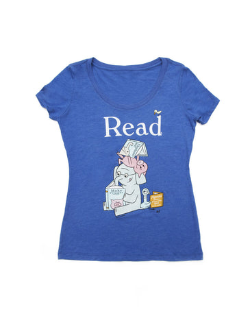 ELEPHANT & PIGGIE Read Women's T-Shirt