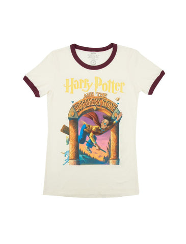 fd2c1699 Harry Potter and the Sorcerer's Stone Women's T-Shirt (Ringer)