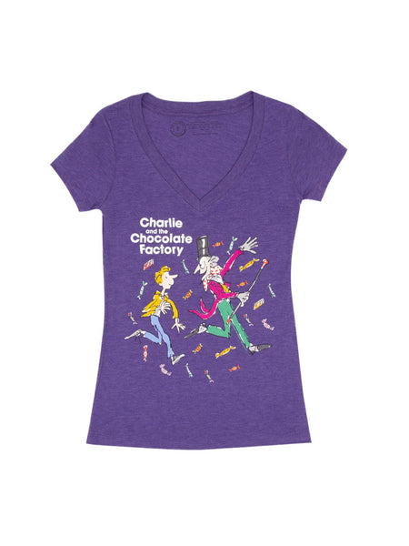 Charlie and the Chocolate Factory Women's V-Neck T-Shirt