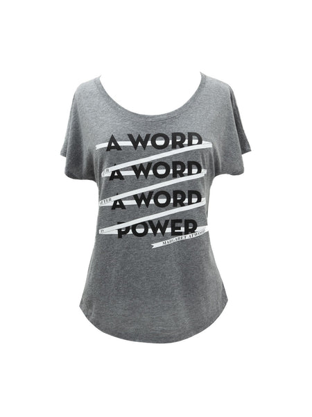 A Word is Power - Margaret Atwood women's book t-shirt