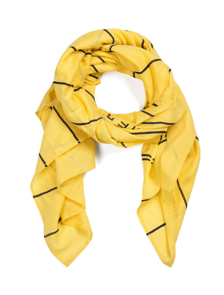 Library Card Lightweight Scarf (Yellow)