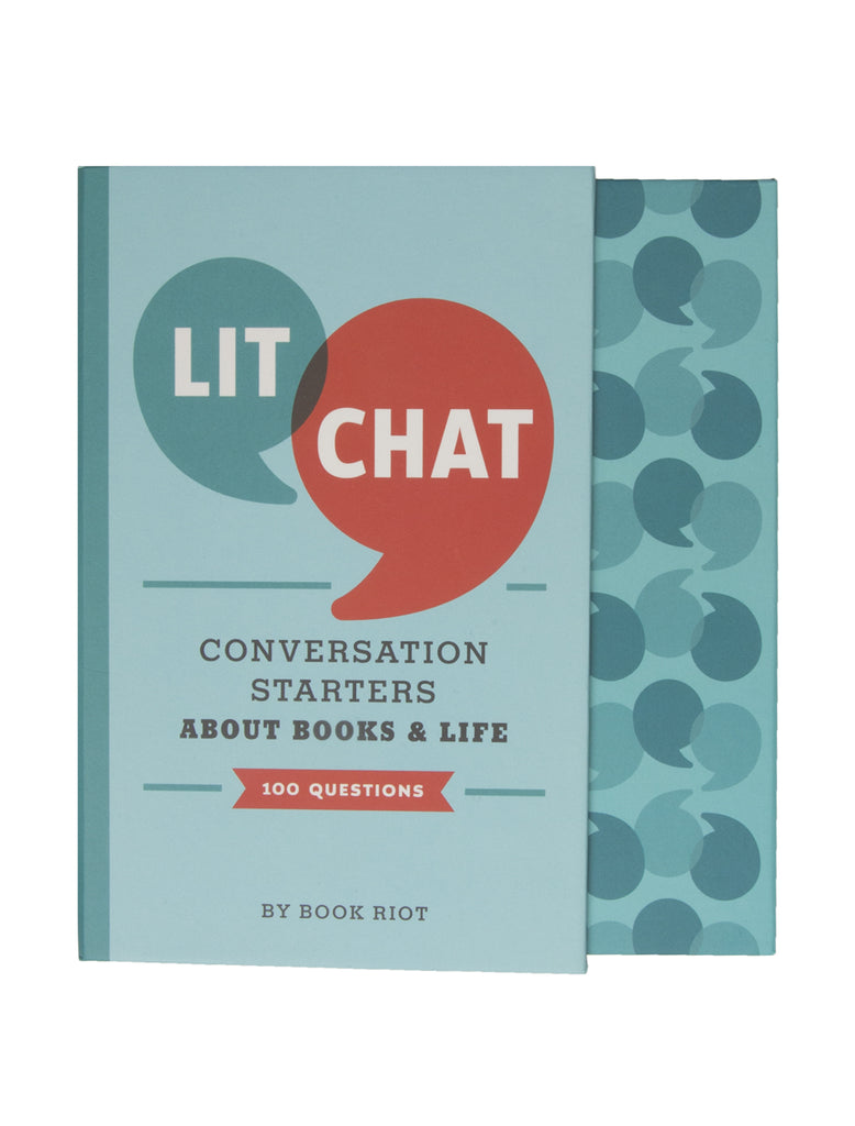 lit chat conversation starters about books and life 100 questions book riot store. Black Bedroom Furniture Sets. Home Design Ideas