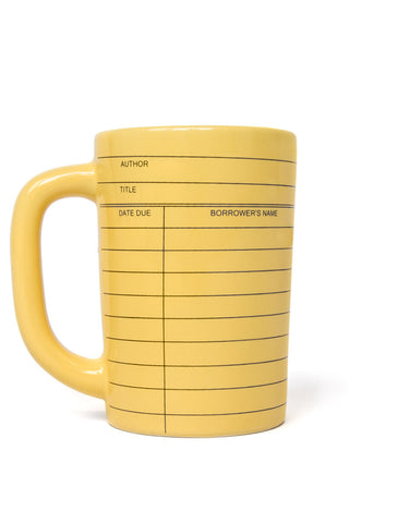 Library Card yellow mug