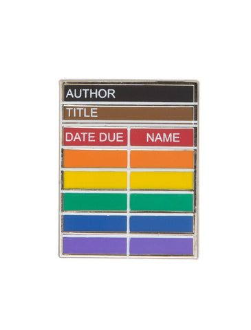 Library Card Pride enamel pin