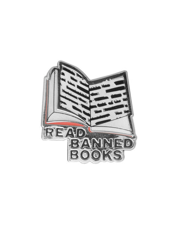 Read Banned Books enamel pin