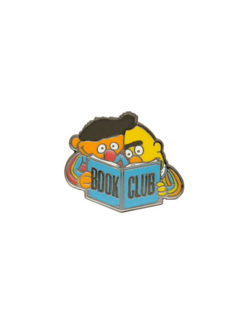 Bert and Ernie Book Club enamel pin