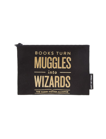 Books Turn Muggles into Wizards (Harry Potter Alliance) pouch