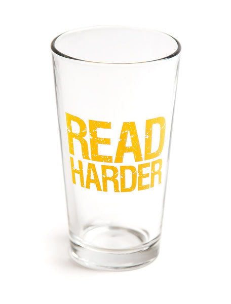 Read Harder Pint Glass