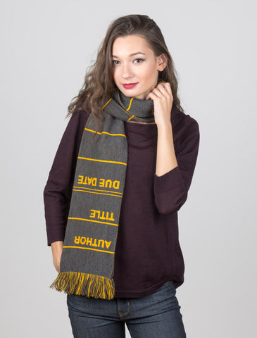 Library Card: Gray scarf