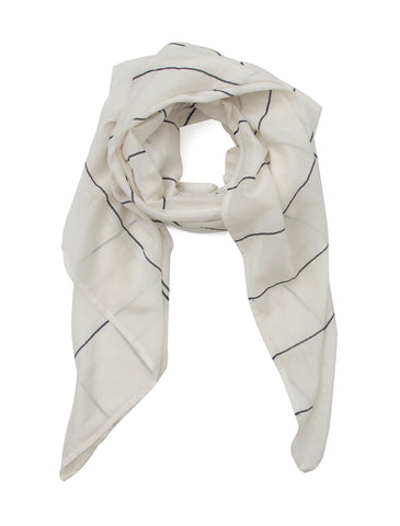 Library Card Lightweight Scarf (White)