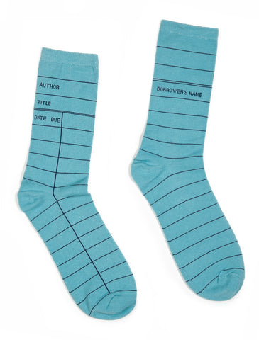 Library Card: Blue socks