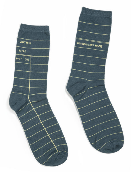 Library Card: Gray socks