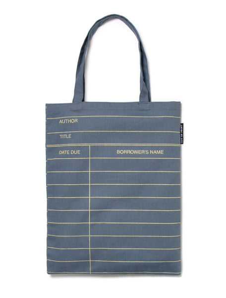 Library Card: Gray tote bag