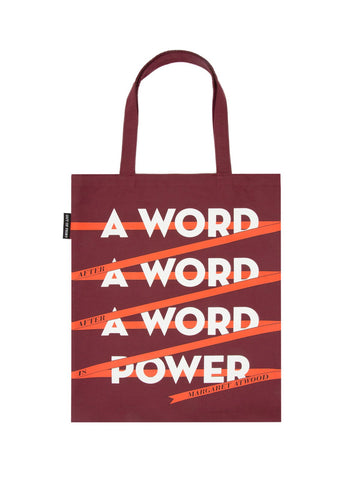 A Word is Power - Margaret Atwood tote bag