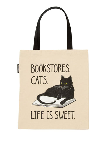 Bookstore Cats tote bag