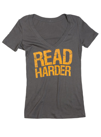 Read Harder: Women's V-Neck T-Shirt