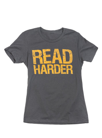 Read Harder: Crew Neck Women's T-Shirt
