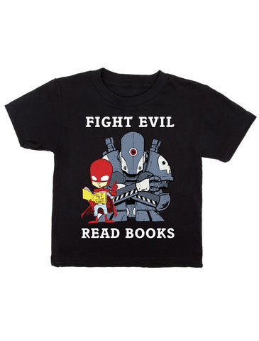 Kids' Fight Evil, Read Books T-Shirt (2018)