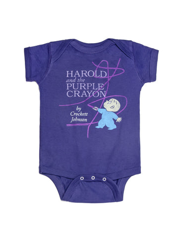 Baby Harold and the Purple Crayon bodysuit