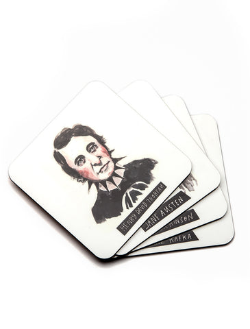 Punk Author Coaster Set