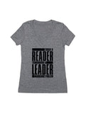 Today a Reader, Tomorrow a Leader (Women's V-neck)