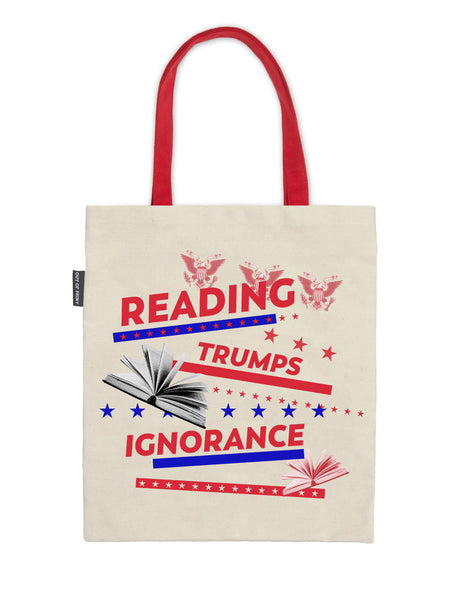 Reading Trumps Ignorance tote bag
