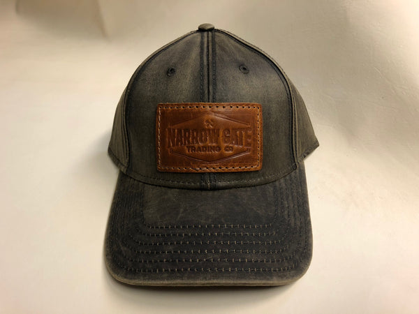 Hat with Leather Patch - Narrow Gate Trading Co.