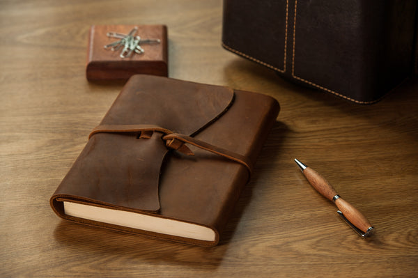 Leather Sketchbook/Journal with Wrap