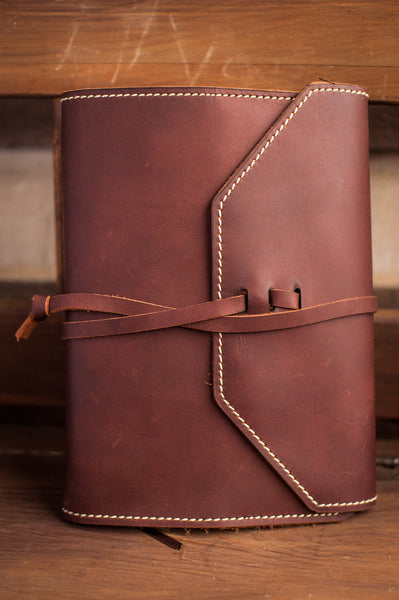 Wrap Style Leather Cover with NIV Life Application Study Bible