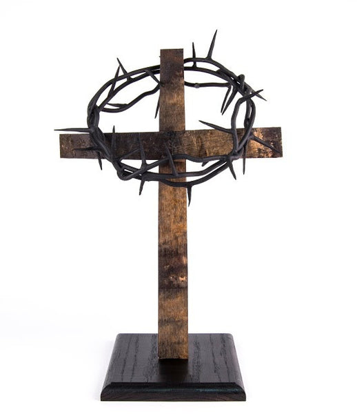 Rugged Cross Stand for Crown of Thorns