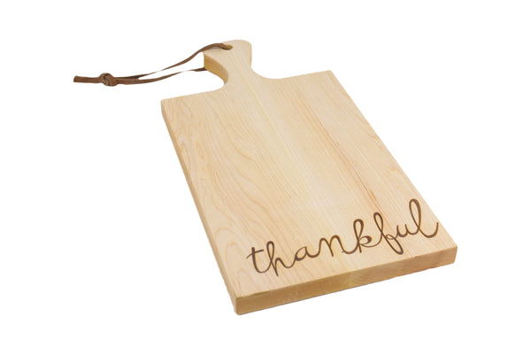 Butcher Board with Handle - Thankful
