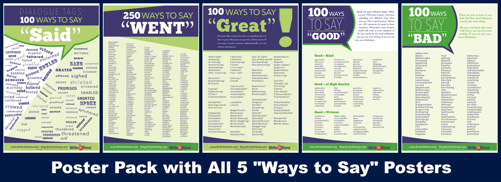 Poster Pack: All 5 Ways to Say Posters