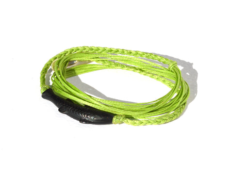Apple Green Gone Fishing String Bracelet