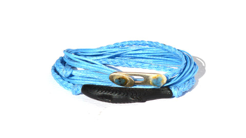 Light Blue Gone Fishing String Bracelet