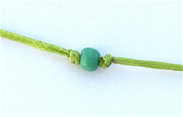 Apple Green Two Swimmers String Necklace