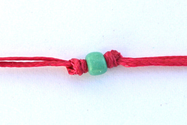 Fuchsia Two Swimmers String Necklace