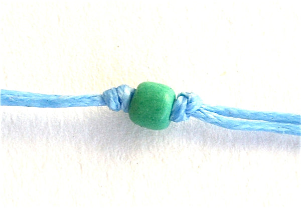 Light Blue Solo Swimmer String Necklace