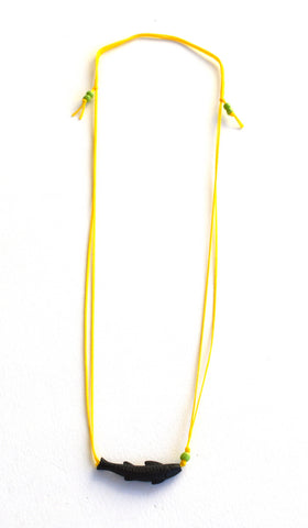 Yellow Solo Swimmer String Necklace