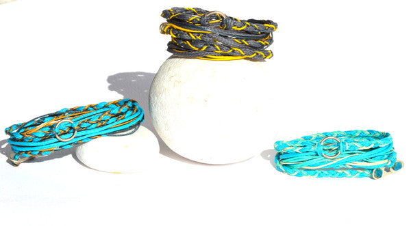 Going In Circles Waxed String Bracelets