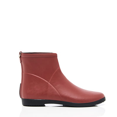 Minimalist Red Ankle Rain Boot