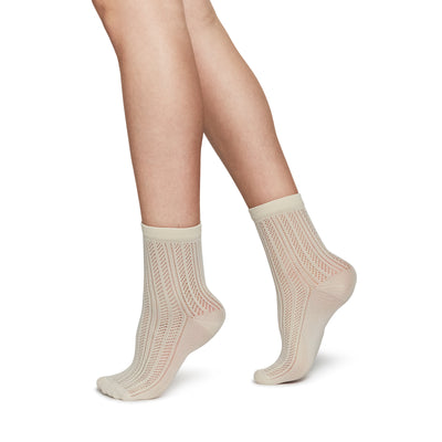 Swedish Stockings Klara Knit Socks Ivory