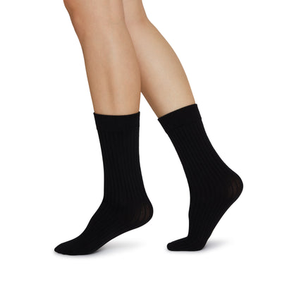 Swedish Stockings Signe Bio-Cotton Socks Black