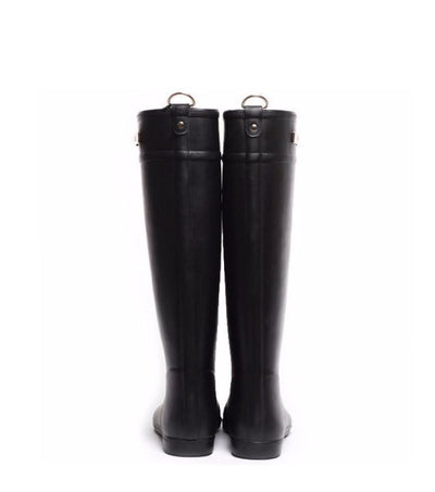 Classic Black Riding Rain Boot