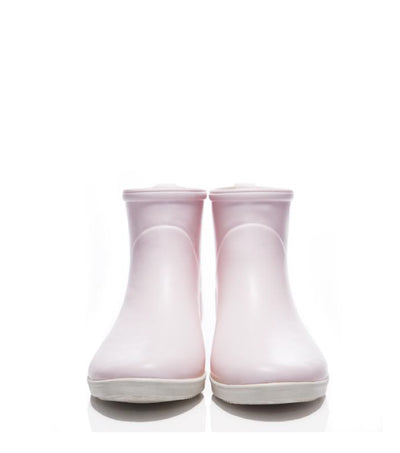 Minimalist Spring Pink Ankle Rain Boot