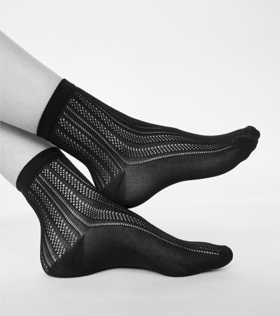 Swedish Stockings Klara Knit Socks Black