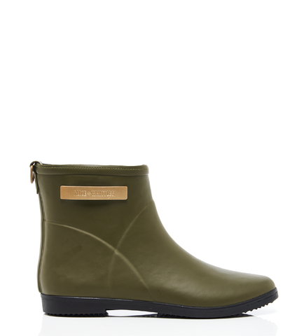 Classic Olive + Black Ankle Boot