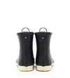 Black Sport Stripes Ankle Rain Boot