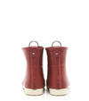 Red Sport Stripes Ankle Rain Boot