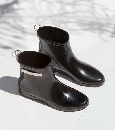 Black Gloss Ankle Boot